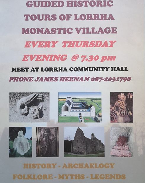 Guided tours of Lorrha